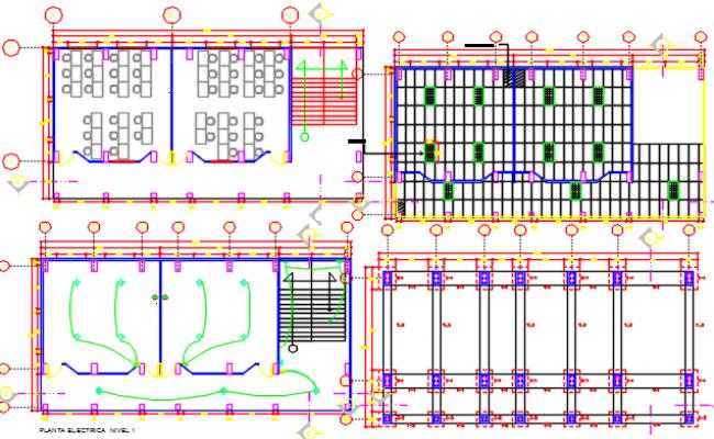 Classroom dwg, classroom design dwg file