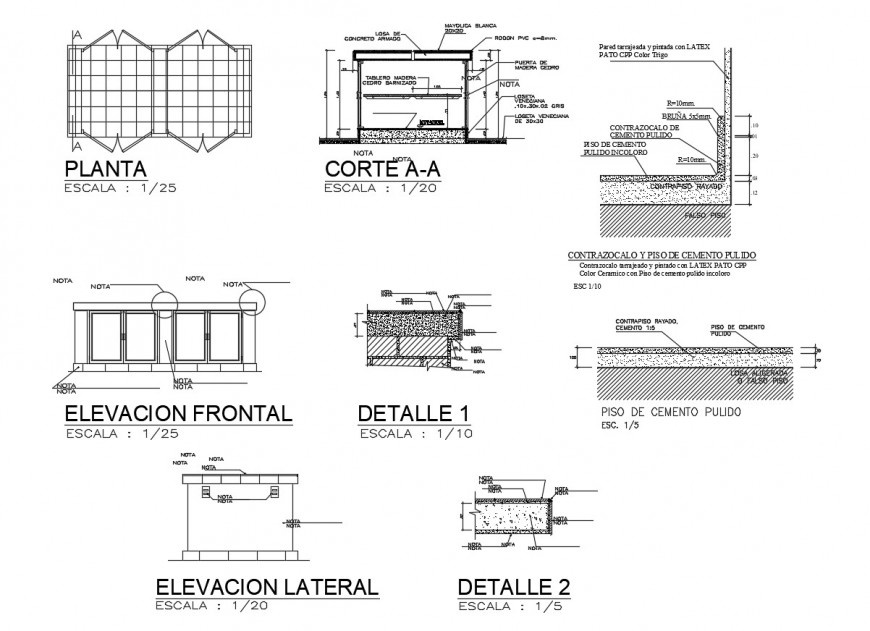 Classroom elevation and constructive structure cad drawing details dwg file
