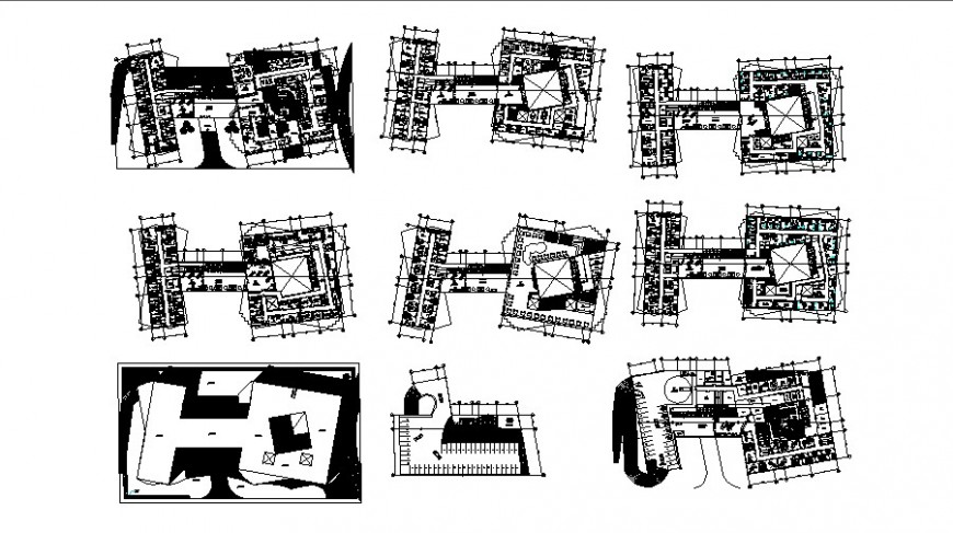 Clinic floor plan in auto cad software file