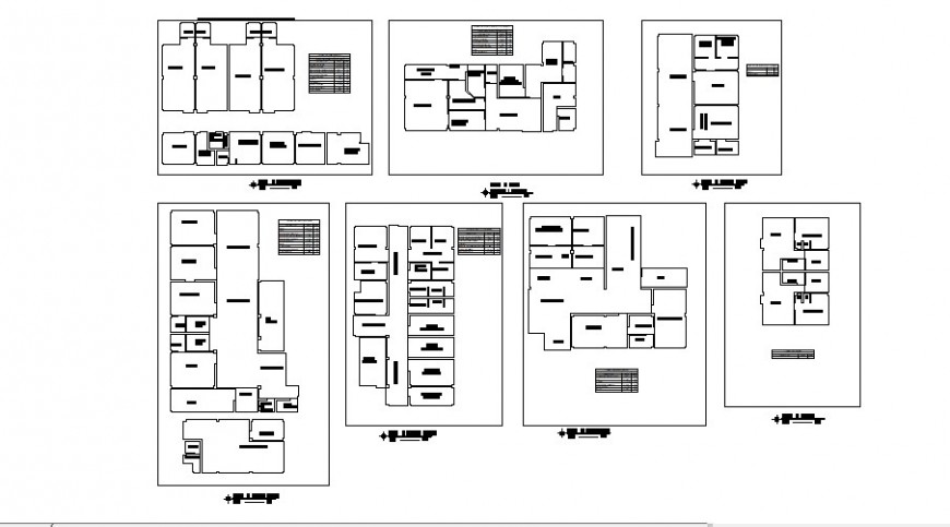 Clinic floor plan with ceiling cad drawing details dwg file
