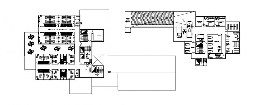 Clinic general plan in AutoCAD file