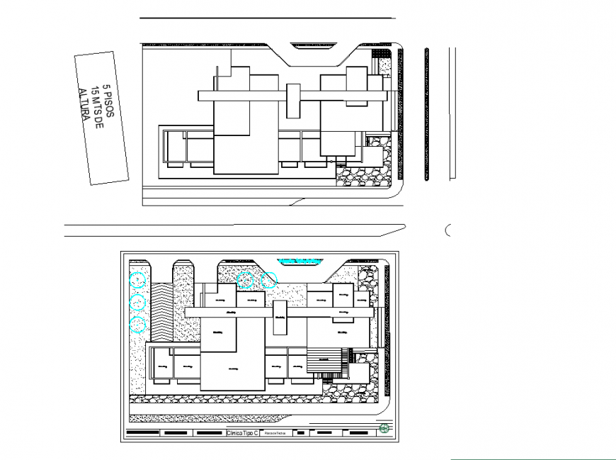 Clinic planning detail dwg file