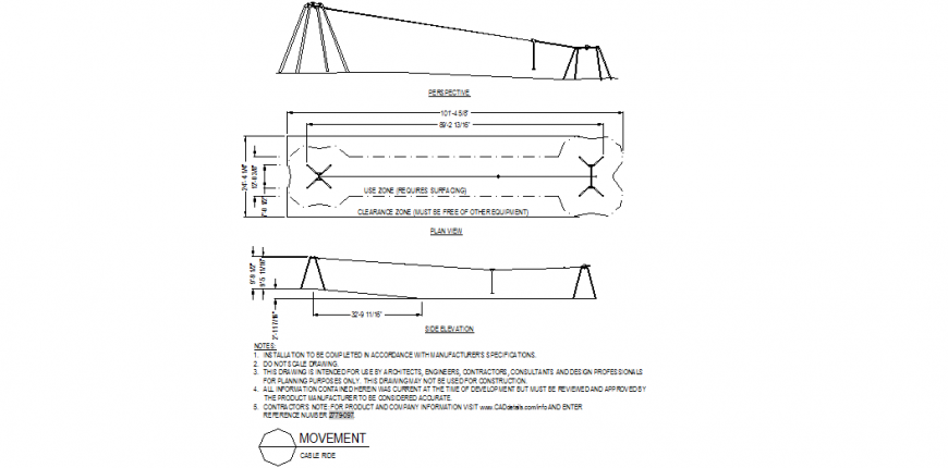 Clown elevation and plan detail dwg file