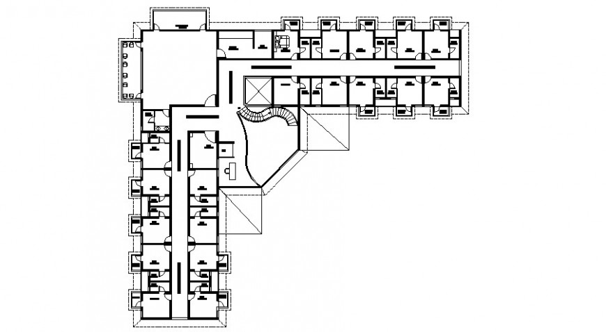 Club house architecture layout plan 2d drawing details dwg file