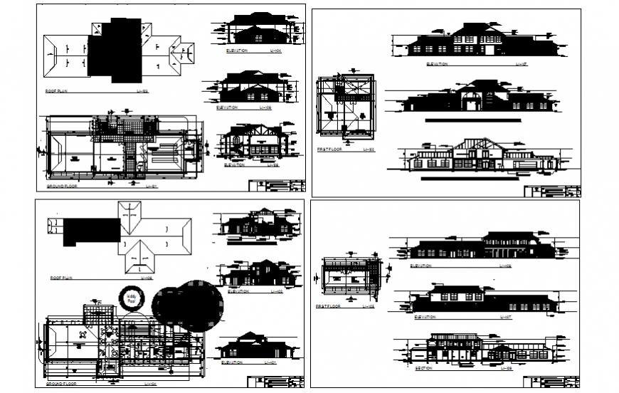 Club house detailed project with mini garden and market dwg file