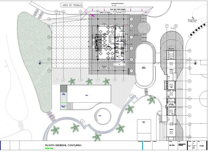 Club house stage1 architecture design detail dwg file