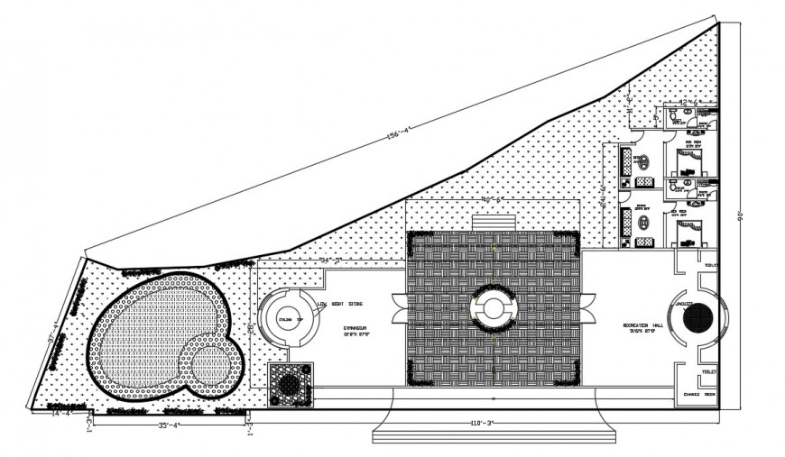 Club house working plan cad file