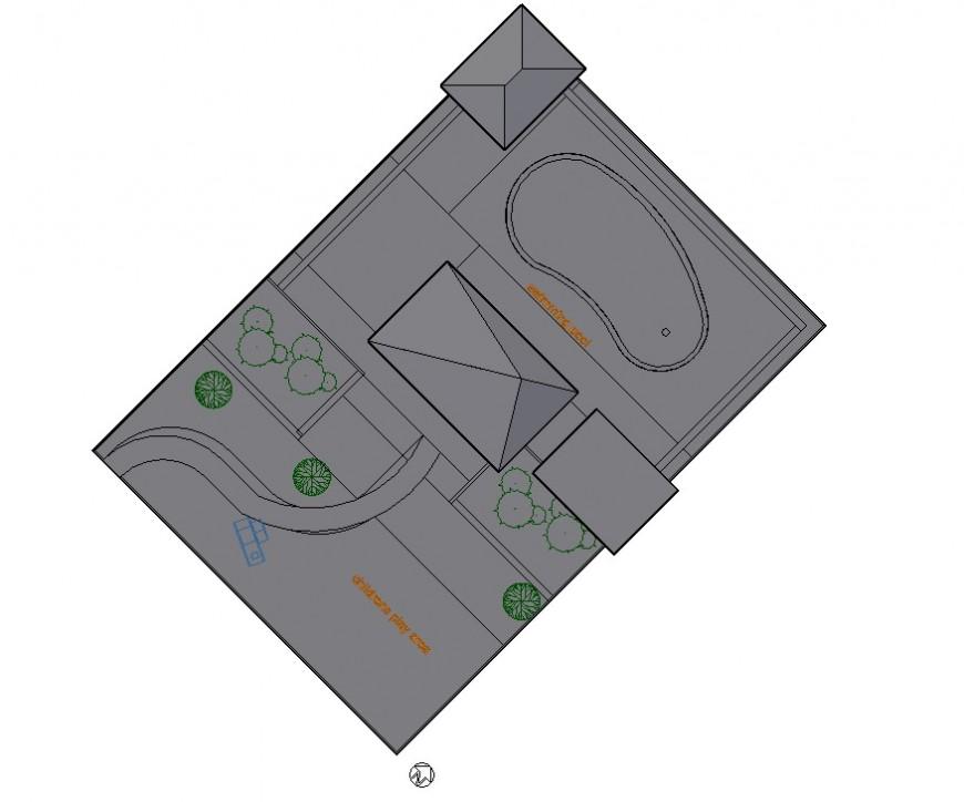 Club housing structure detail 3d model layout CAD structural blocks autocad file