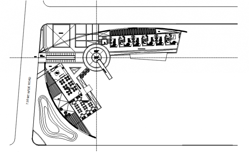 Clubhouse floor site layout plan cad drawing details dwg file