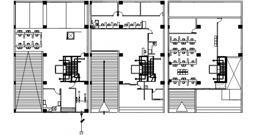 Co-operative banks top view furniture layout