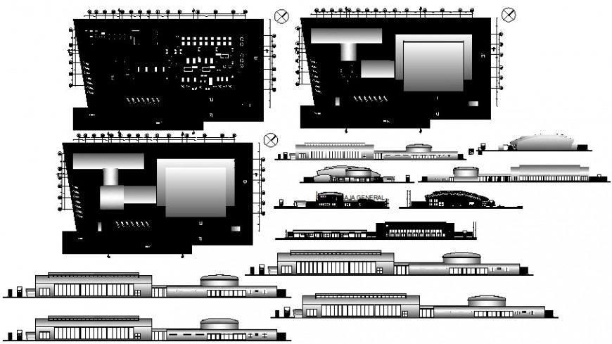 Co-operative building details work plan 2d view autocad file