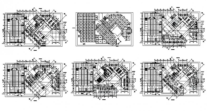 Co-operative building structure detail plan 2d view layout file in dwg format