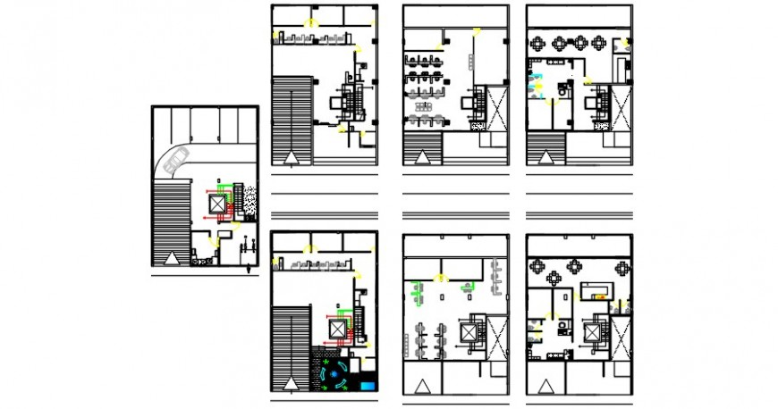 Co-operative saving and credit office floor plan distribution cad drawing details dwg file
