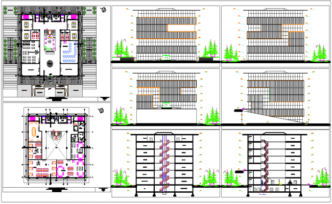 college library architecture layout design autocad drawing download