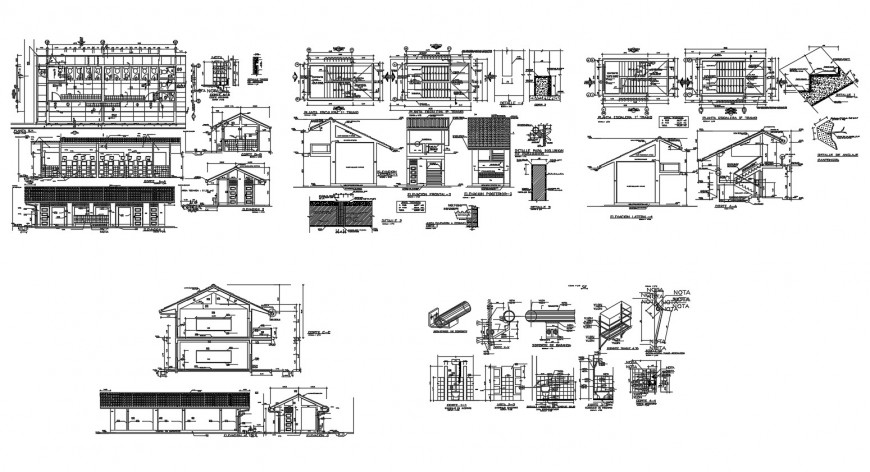 College building detailed architecture project dwg file