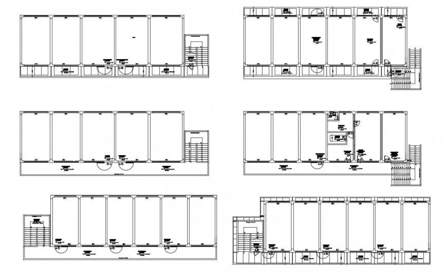 College building model floor plan distribution cad drawing details dwg file