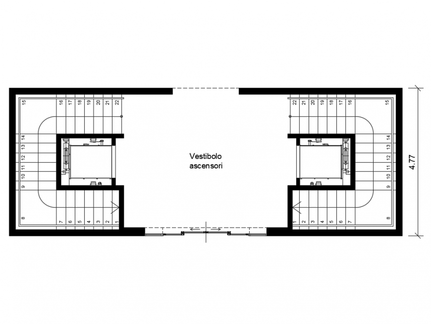 College hall vertical architecture plan details dwg file