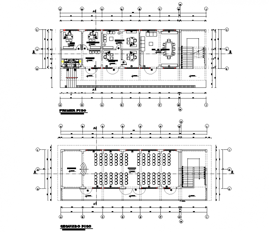 College project detail elevation and file autocad file