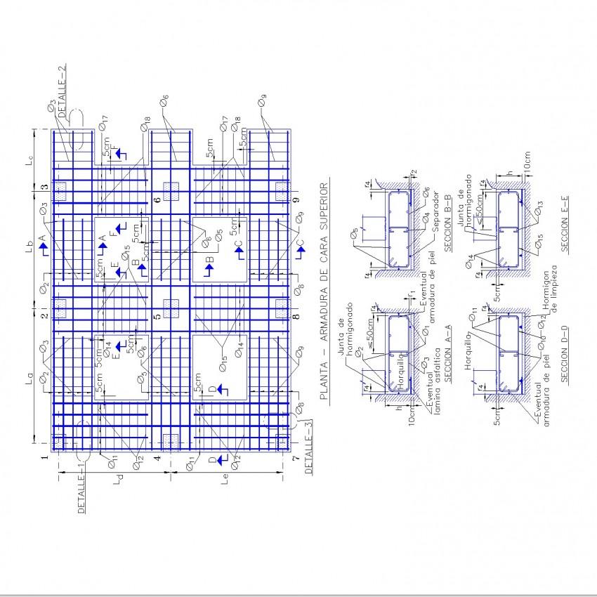 Column Reinforcement framing plan layout file