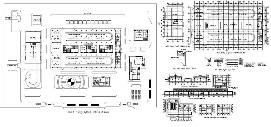 Commerce building detail layout autocad file