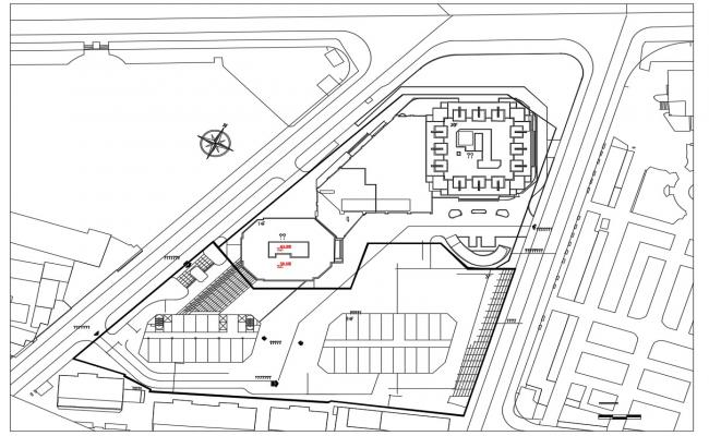 commercial Area Key Plan Free CAD Draiwng