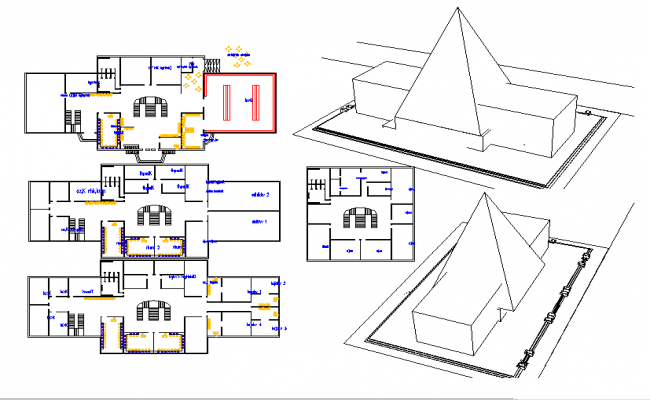 commercial building plan dwg