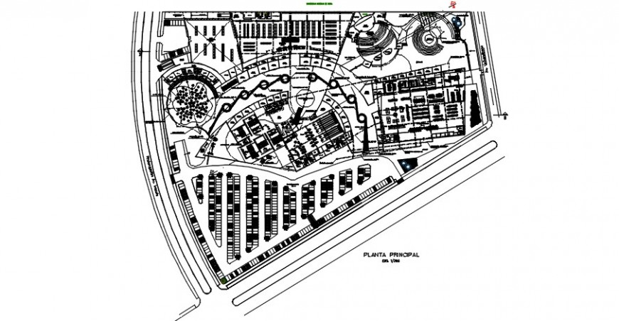 Commercial and shopping center distribution plan cad drawing details dwg file