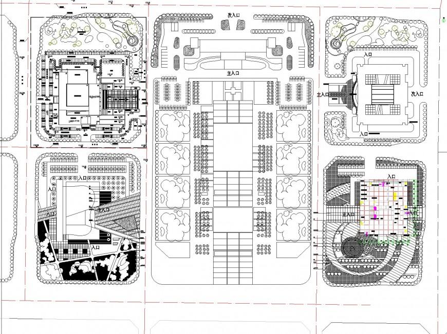Commercial area developer plan autocad file