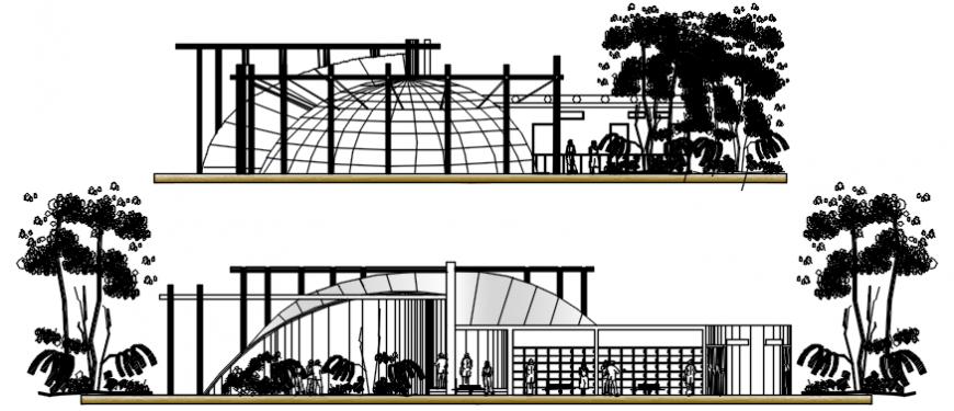 Commercial building blocks drawings details 2d view elevation autocad file