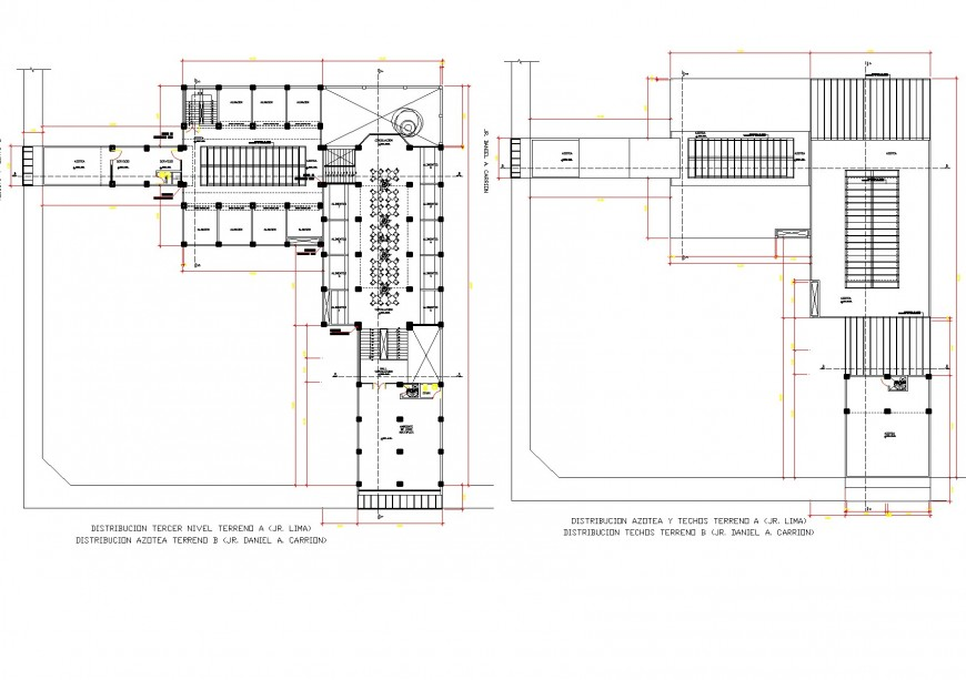Commercial building detail plan and elevation dwg file