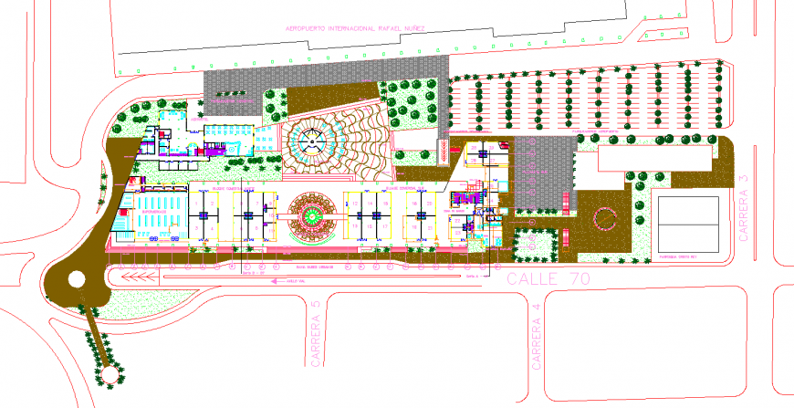 Commercial building drawing in dwg file.