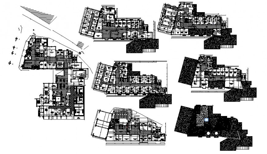 Commercial building drawings detail 2d floor plan details in autocad