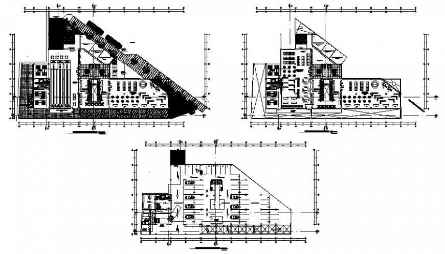 Commercial building drawings work floor plan details autocad file