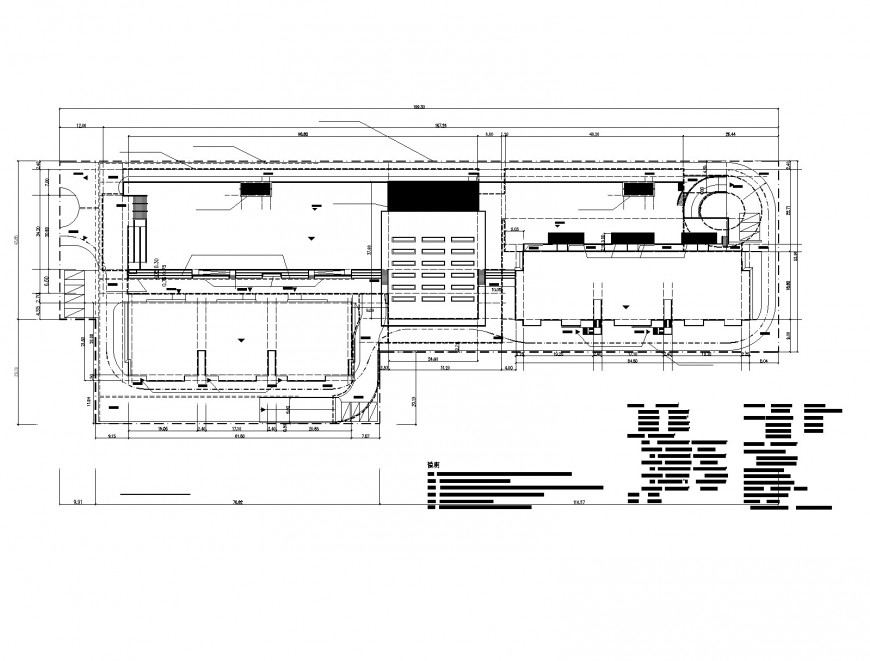 Commercial building in college lab plan layout file