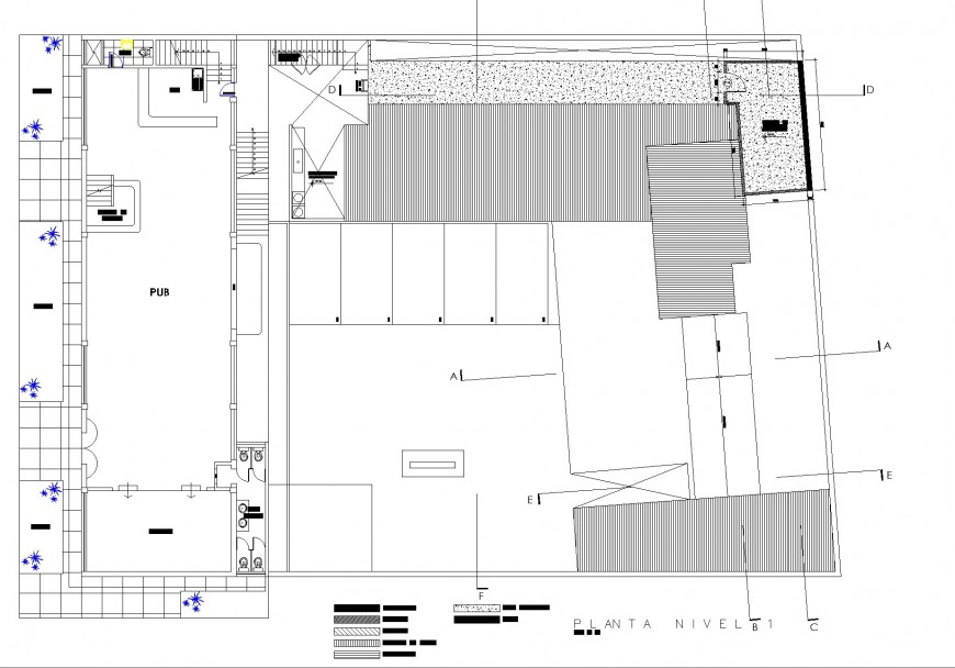 Commercial building plan layout file