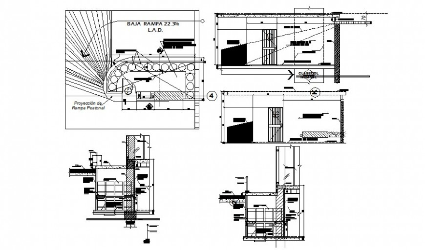 Commercial building room drawings 2d view autocad file