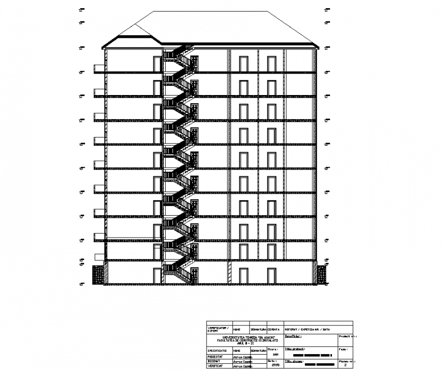 Commercial building section plan autocad file