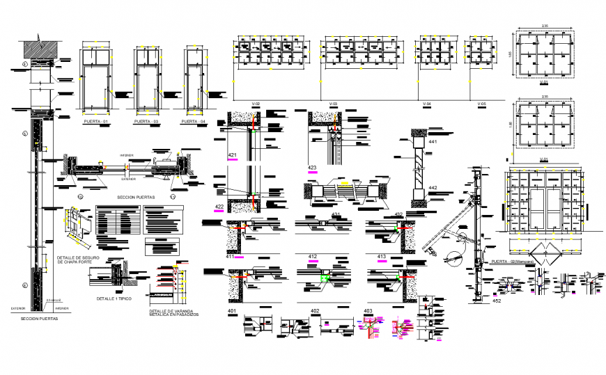 Commercial building structural section plan layout file
