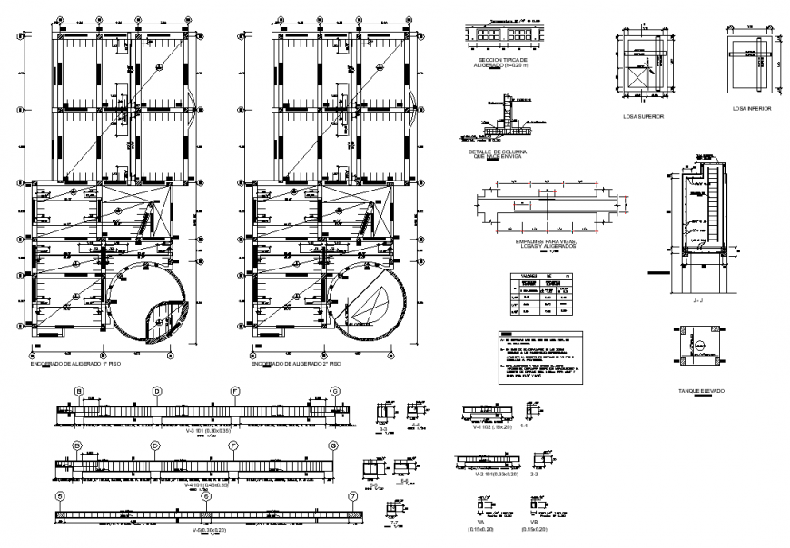 Commercial building structure drawing in dwg file.