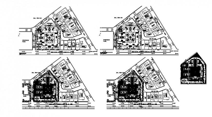 Commercial building units drawings details plan 2d view autocad file