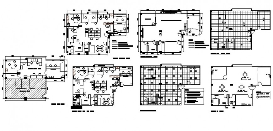 Commercial building units drawings details work plan autocad file