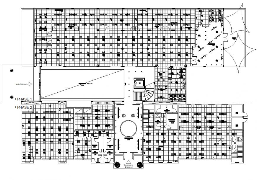 Commercial ceiling design plan AutoCAD file