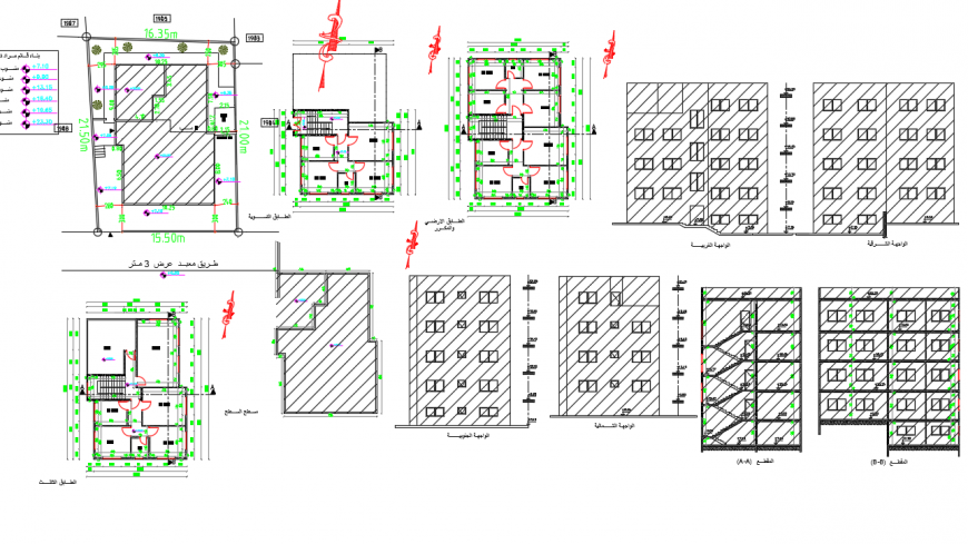 Commercial center all detail in Drawing DWG file