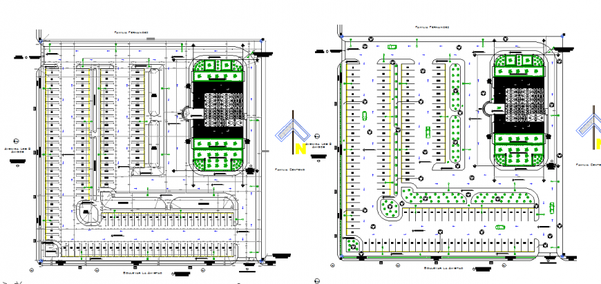 Commercial Complex Lay-out Floor PLan Design