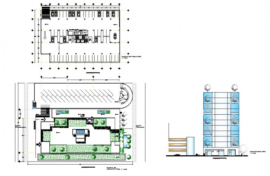Commercial grand building elevation