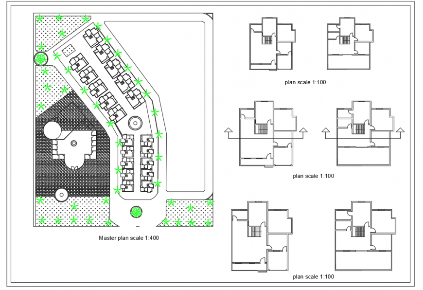 Commercial Master Plan Detail in DWG file