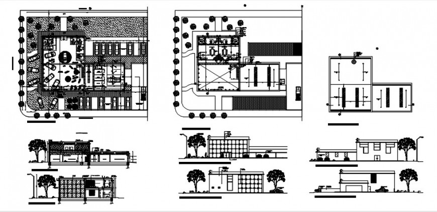 Commercial museum gallery sections and floor plan drawing details dwg file