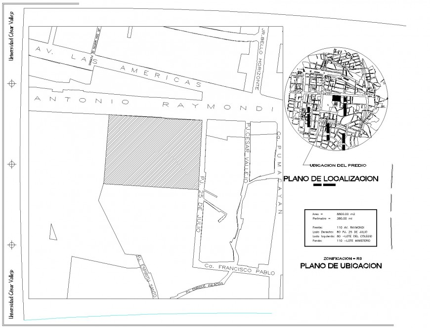 Commercial plot detail plan autocad file