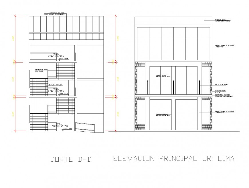 Commercial remodeling gallery detail plan dwg file