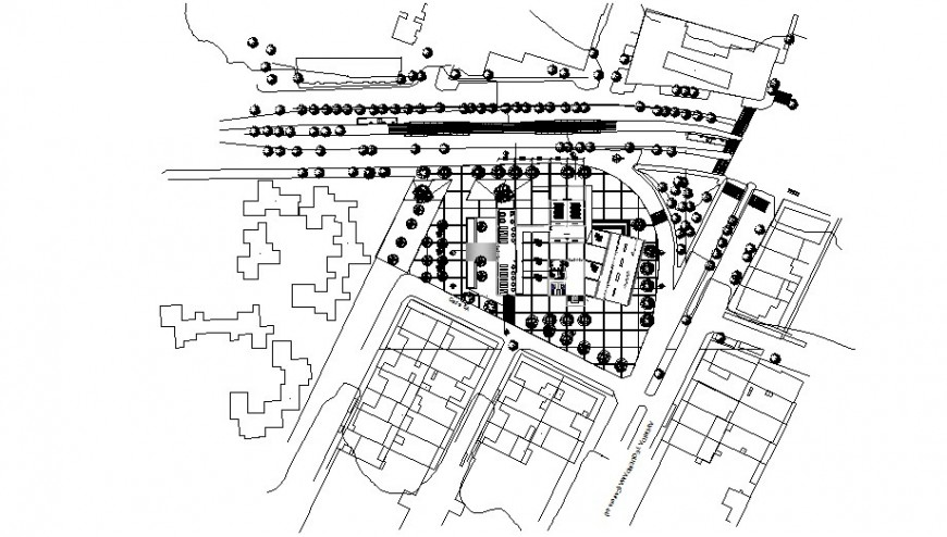 Commercial school planning detail dwg file